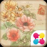 花のイラスト壁紙 Anemone 無料きせかえ