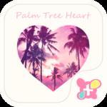 Beach Theme-Palm Tree Heart-