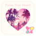 Beach Theme-Palm Tree Heart-