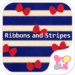 Blue Theme Ribbons and Stripes