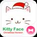 Christmas  Theme Kitty Face