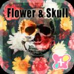 Cool Theme-Flower Skull-