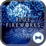 Cool Wallpaper Blue Fireworks Theme