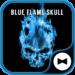 Cool Wallpaper Blue Flame Skull Theme