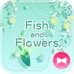 Cool Wallpaper Fish and Flowers Theme