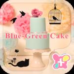 Cute Theme-Blue-Green Cake-