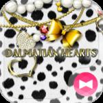 Cute Theme Dalmatian Hearts