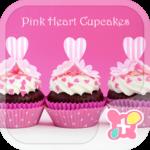 Cute Theme Pink Heart Cupcakes