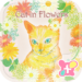 Cute Wallpaper-Cat in Flowers-