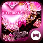 Cute Wallpaper Decorative Hearts Theme