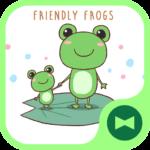 Cute Wallpaper  Friendly Frogs