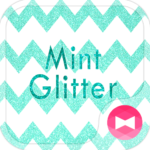 Cute Wallpaper Mint Glitter