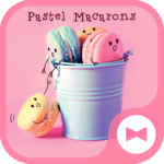 Cute Wallpaper Pastel Macarons Theme