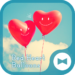 Cute Wallpaper Red Heart Balloons Theme