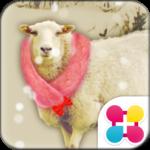Cute Wallpaper Snowy Sheep