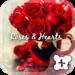Cute wallpaper-Roses & Hearts
