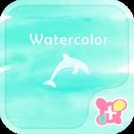 Dolphin Wallpaper-Watercolor-