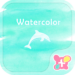 Dolphin Wallpaper-Watercolor-