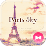 Eiffel Tower Theme-Paris sky-