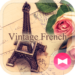 Eiffel Tower-Vintage French-