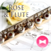 Elegant Wallpaper Rose & Flute Theme