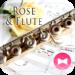 Elegant Wallpaper Rose & Flute Theme