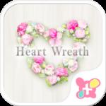 Flower Theme-Heart Wreath-