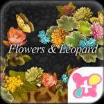Flowers & Leopard Wallpaper