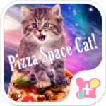 Funny Theme-Pizza Space Cat!-