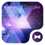 Galaxy of Triangles Wallpaper