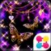 Glitter Butterfly 蝶とレオパードの壁紙