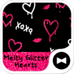 Glitter Hearts  Wallpaper