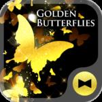 Golden Butterflies Wallpaper
