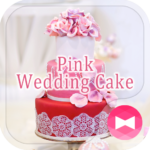 Happy Wallpaper Pink Wedding Cake Theme