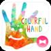 Holi Theme Colorful Hand