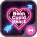 Lovely Theme Neon Cupid Heart