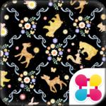 キュート壁紙 バンビとお花の森