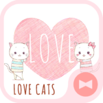 Pair Wallpaper – Love Cats
