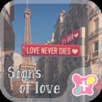 Paris wallpaper Signs of Love