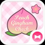 Peach Gingham Check Theme