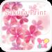 Pink Wallpaper-Sakura Print-