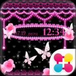 蝶の小悪魔壁紙 Pink×Black Butterfly
