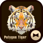 Polygon Tiger Wallpaper Theme