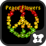 Reggae wallpaper-Peace Flowers