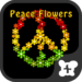 Reggae wallpaper-Peace Flowers