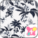 Resort Theme-Flowers & Fronds-