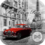 Retro Car in Paris Wallpaper