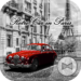 Retro Car in Paris Wallpaper