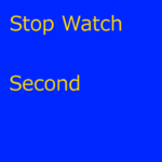 StopWatchSecond