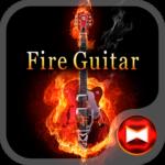Stylish Theme Fire Guitar